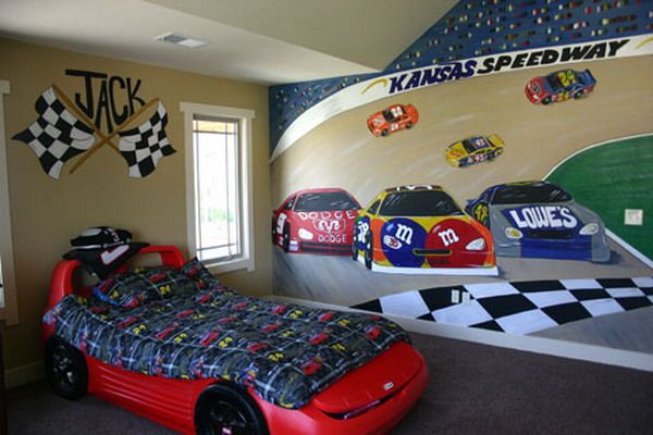 I Worked On This Race Car Bedroom Theme Decorating Thought With My Lads Growing Love Of Small Hot Wheels Cars And Cars Bedroom Decor Cars Room Race Car Bedroom