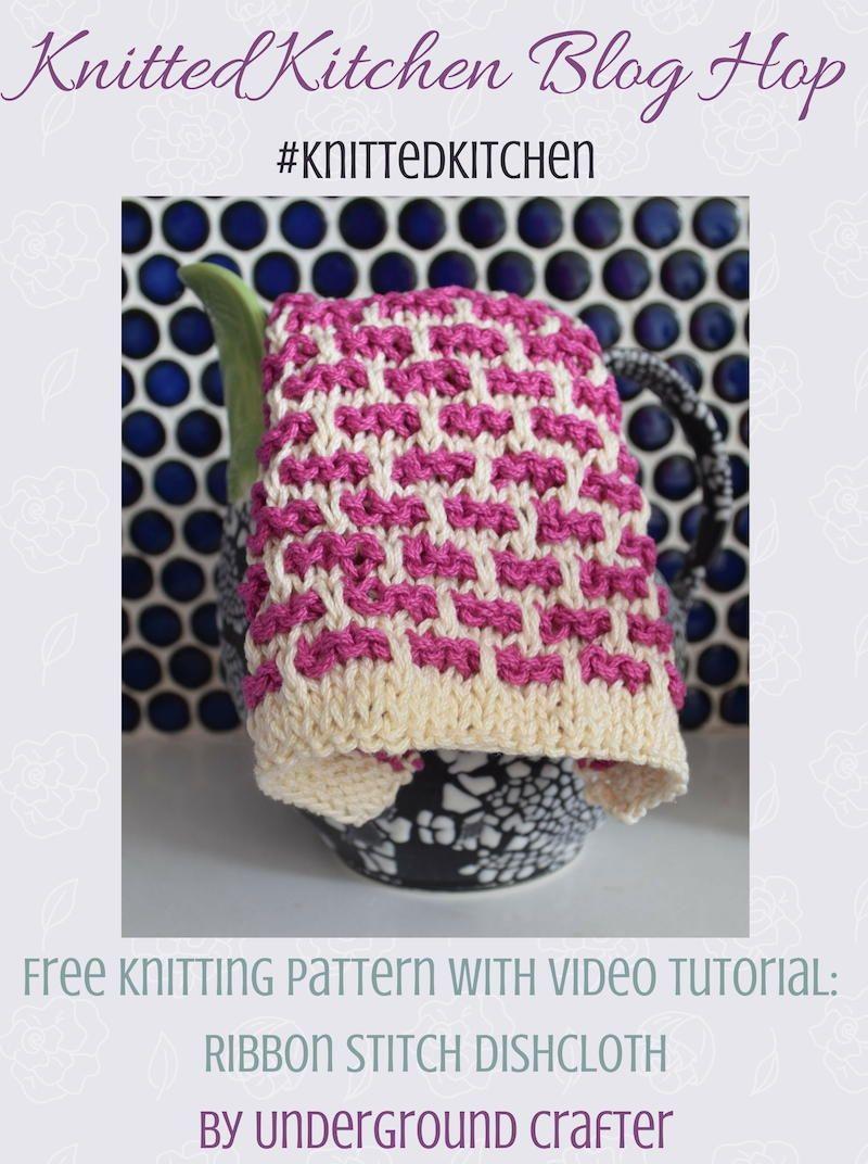 Ribbon Stitch Dishcloth | Stitch, Knitting patterns and Tutorials