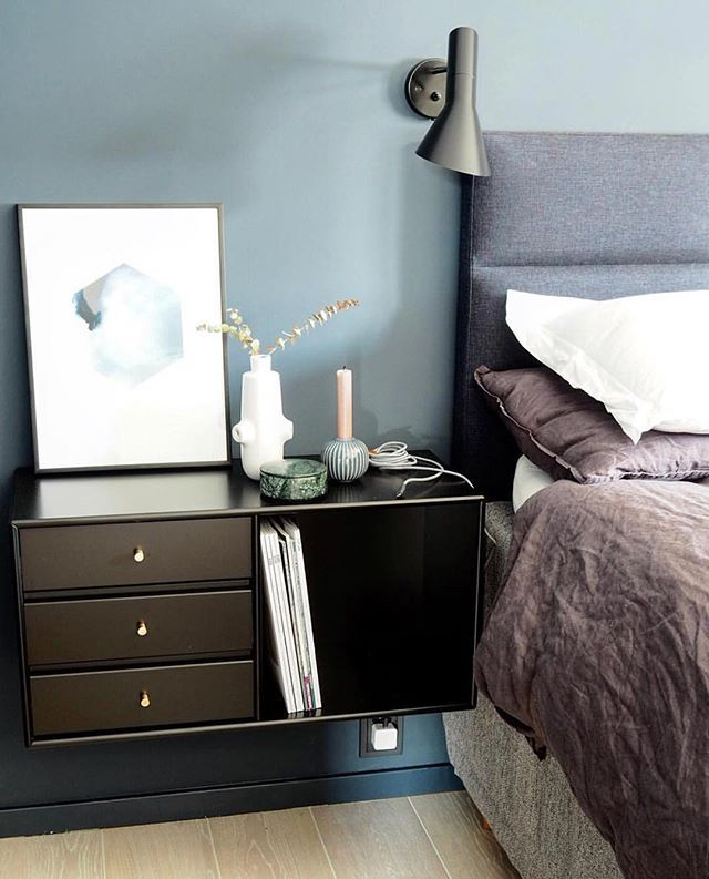 Sweet Dreams Night Table In Black With Br Handles