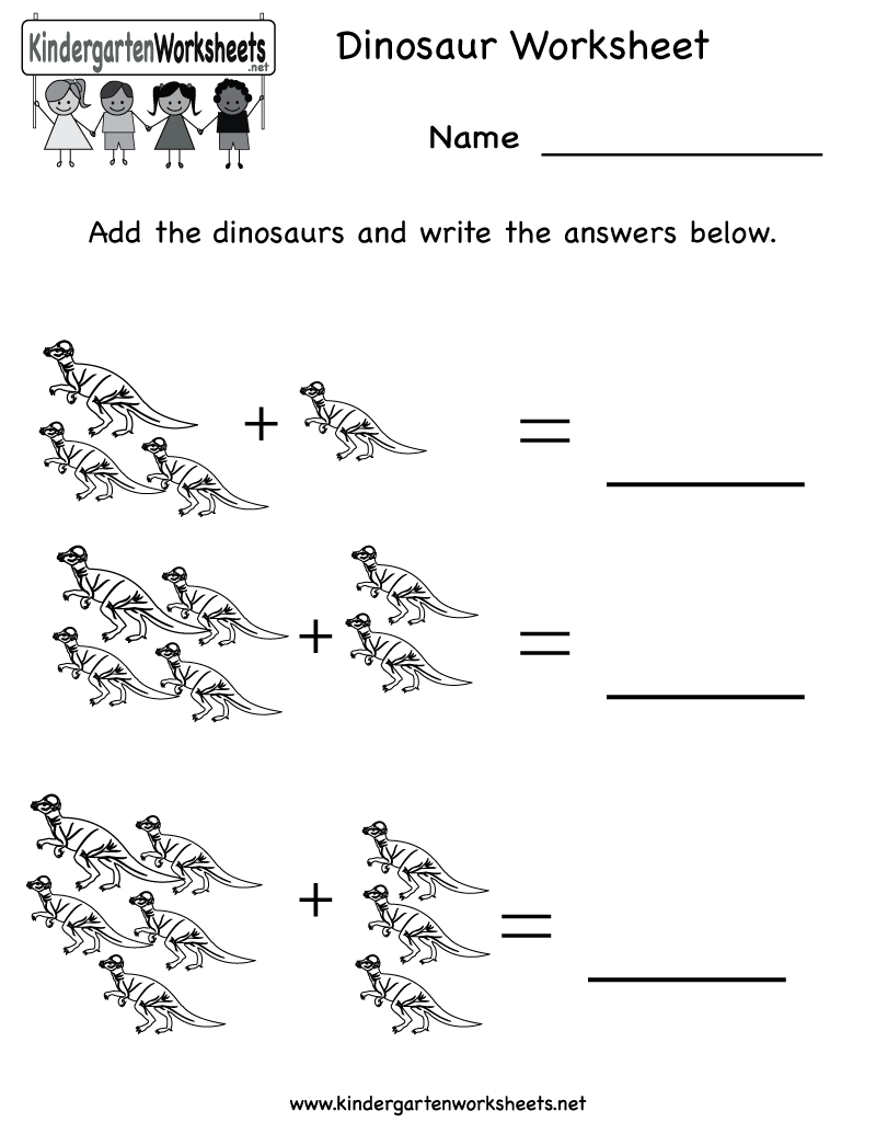 Kindergarten Dinosaur Worksheet Printable Occupational