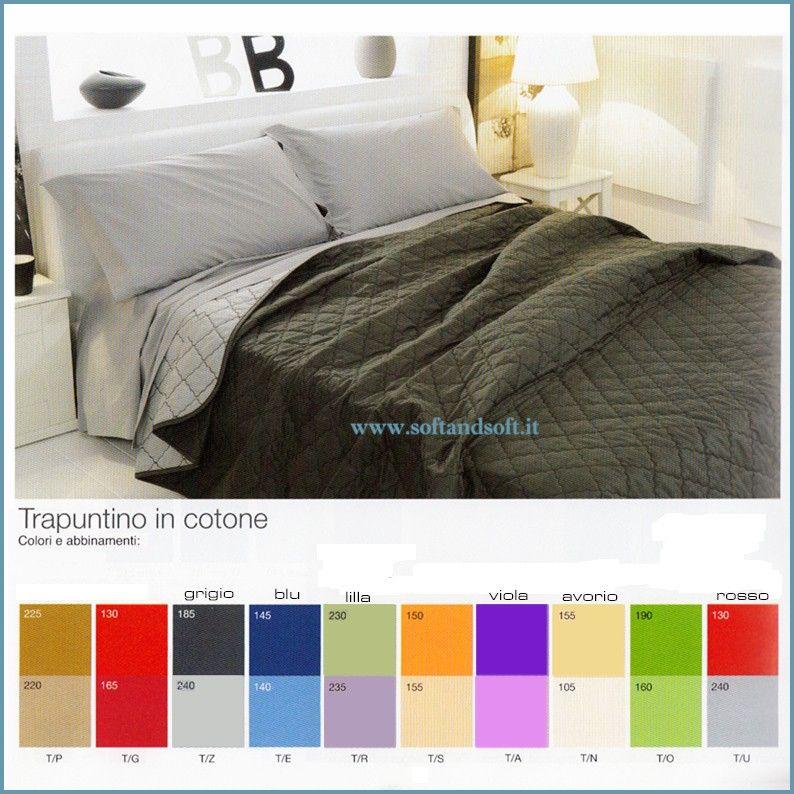 Colored copriletto trapuntato primaverile per letto - Copriletto matrimoniale estivo ...