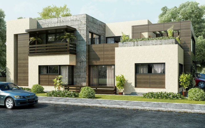 attractive modern house front nice look