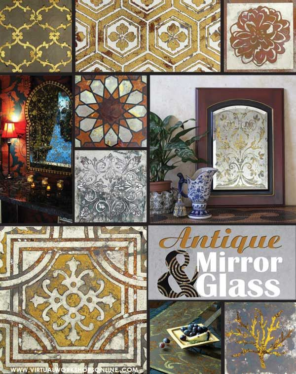 How To Create Antique Mirror Etch Glass Royal Design Studio Antique Mirror Antique Mirror Glass Painting Crafts