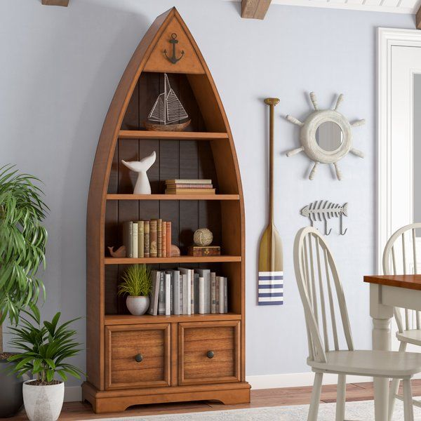 Cheap Furniture Online With Free Shipping: Vella Boat Standard Bookcase