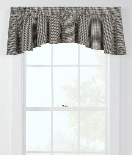 window toppers laurel check lined flounce valance country curtains rh pinterest com