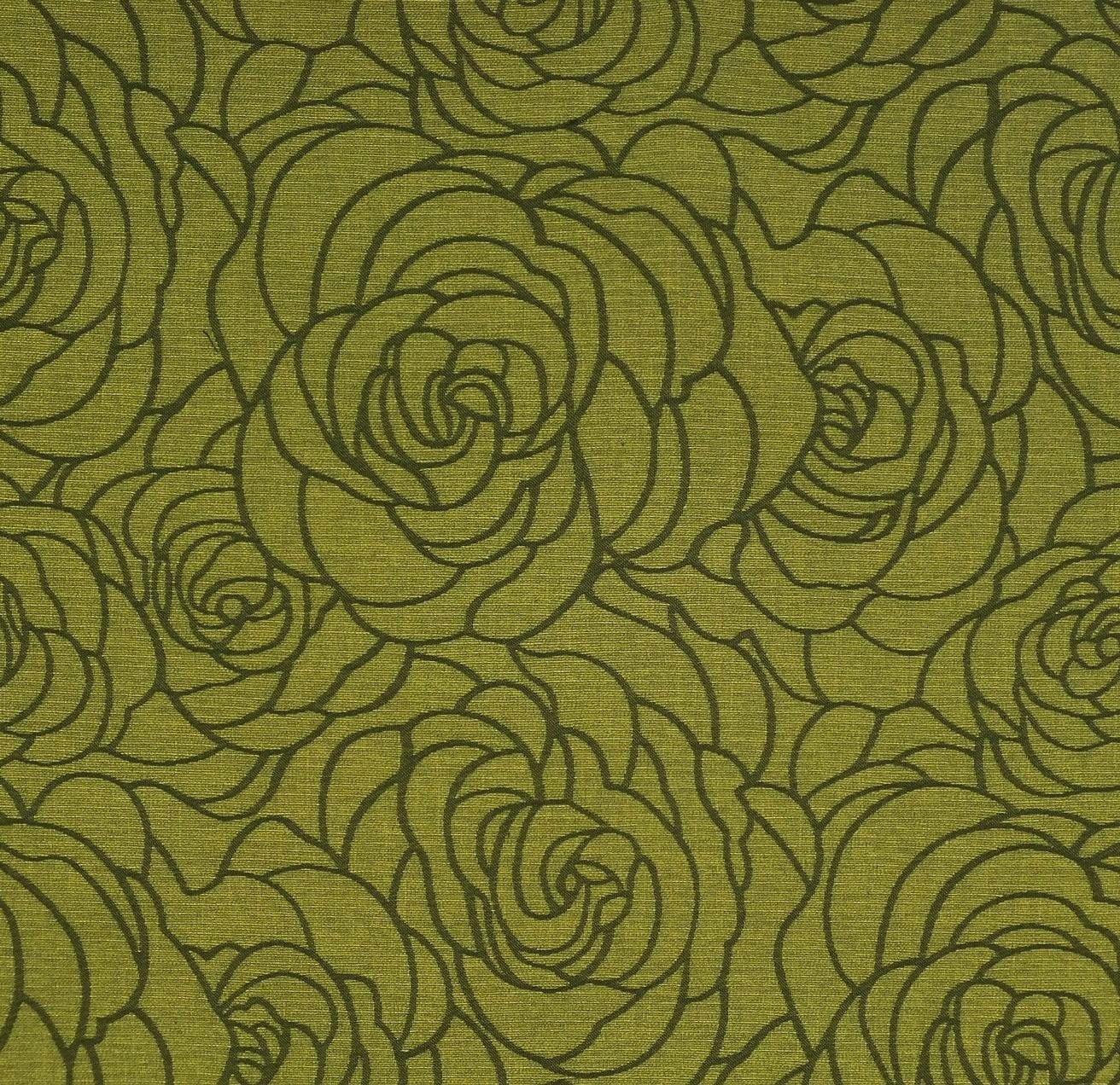 Green Floral Upholstery Fabric