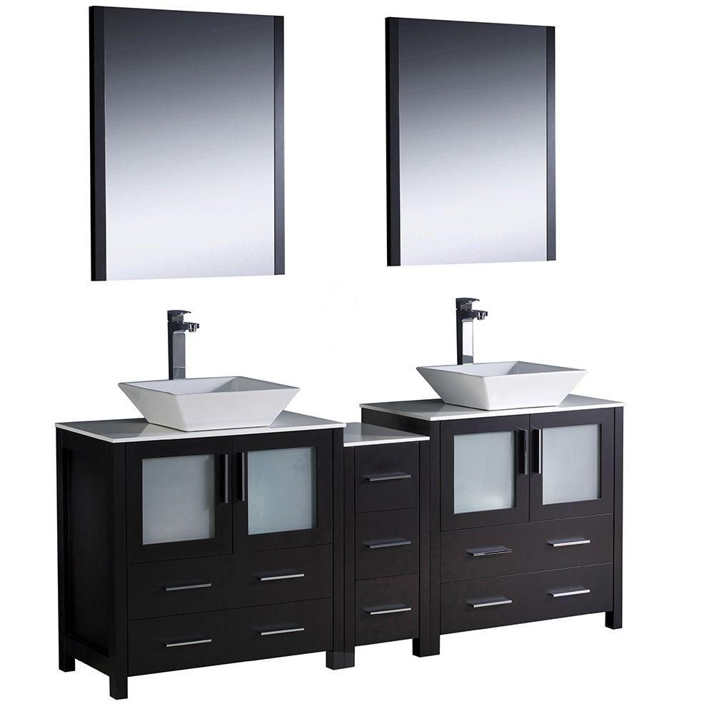 fresca torino 72 inch espresso modern double sink bathroom vanity rh pinterest es