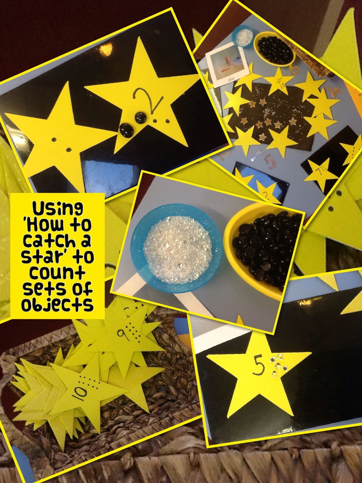 How To Catch A Star Work Using Stars To Count Sets Of Objects
