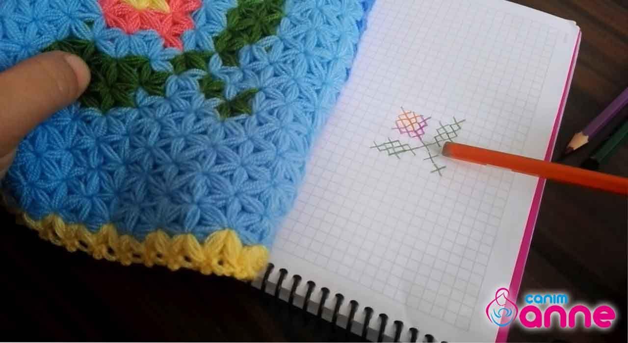 Uğur Böceği Motifli Lif Modeli Yapılışı Türkçe Videolu