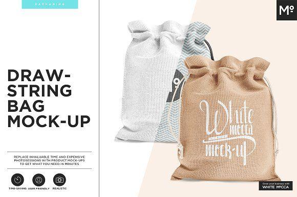 Download Drawstring Burlap Jute Bag Mock Up Bag Mockup Jute Bags Psd Template Free