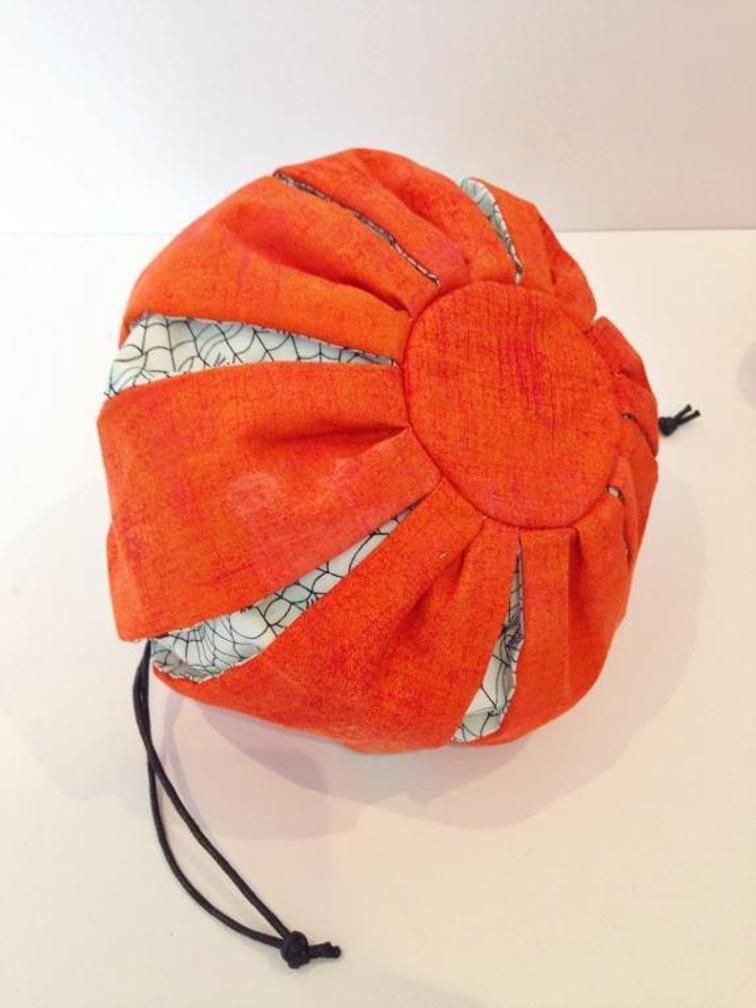 Pumpkin drawstring bag pattern Halloween | Drawstring bag pattern ...