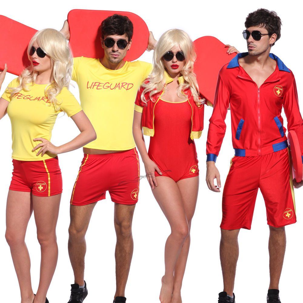 f84205870b08 TV Series Life Guard Fancy Dress Up Lifegurad Costumes Beach Baywatch  Costume in Clothing