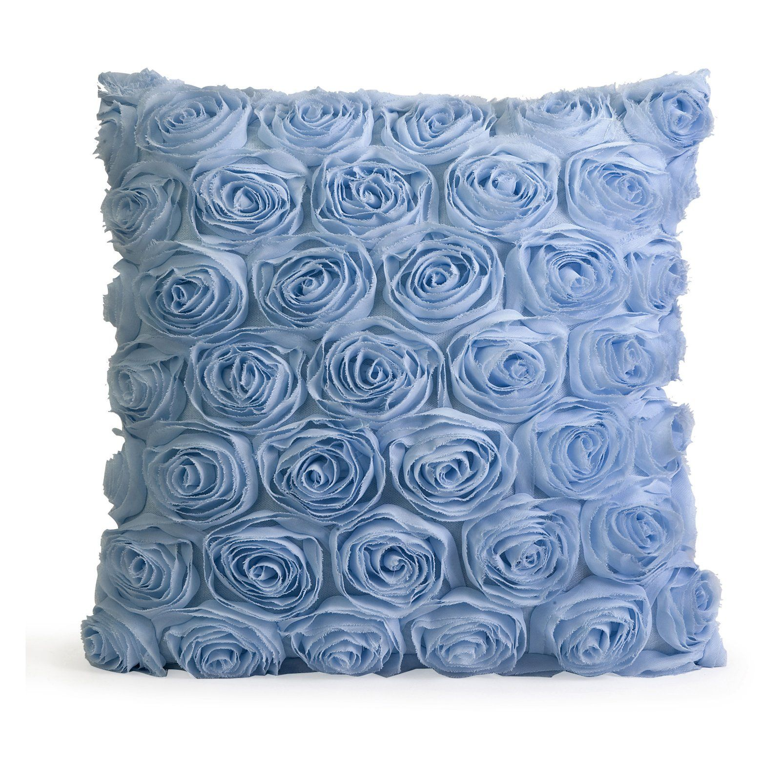 Cojines Decorativos Azules Blue Rose Pillow For The Home Cojines Colchas Y Ideas