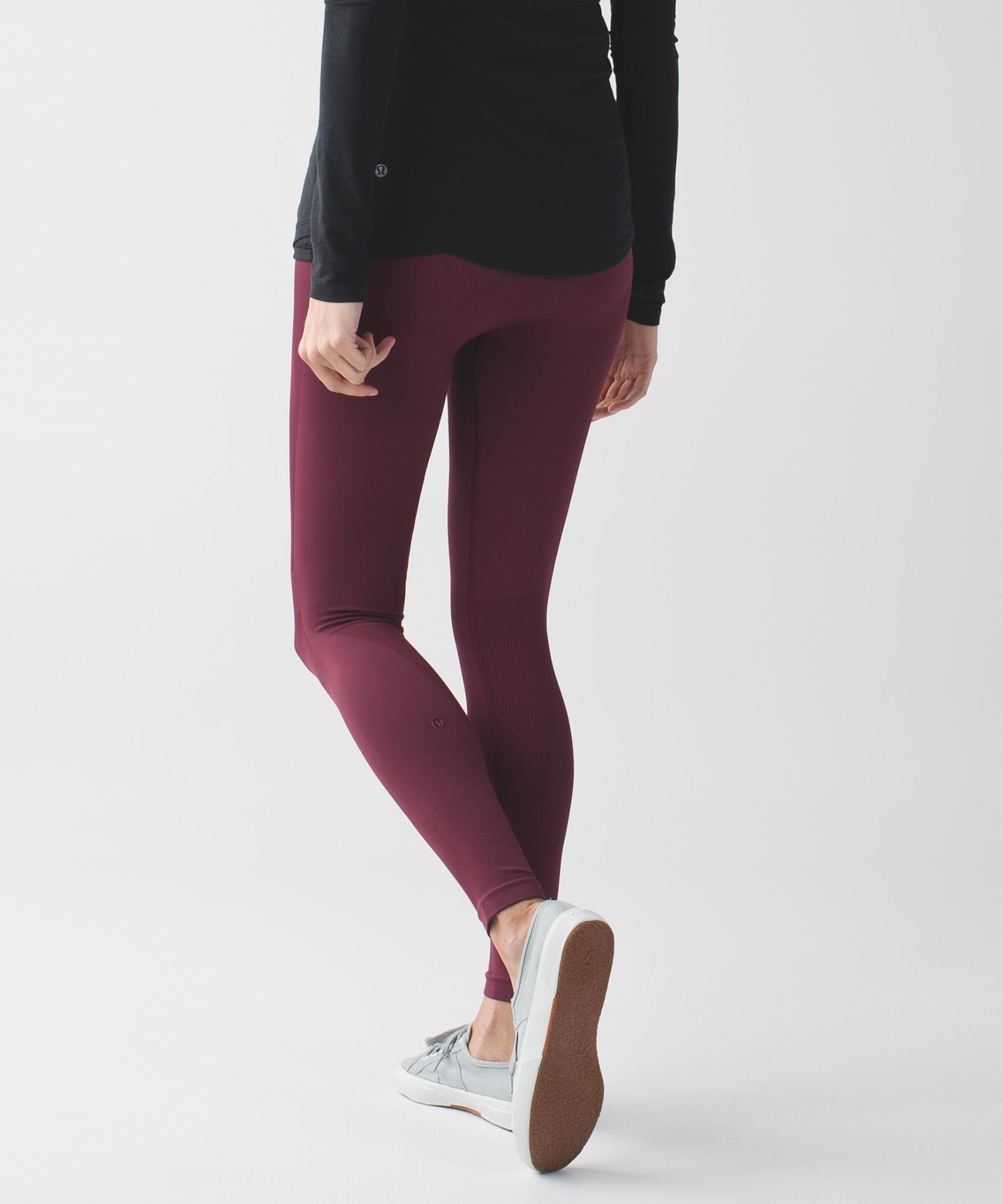 These yoga tights are engineered with zoned compression to keep you feeling held-in and supported in all the right places. Just grabbed on MD. Zone in Tights in wine berry