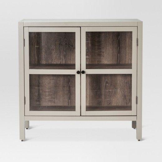 Threshold Hadley 2 Door Accent Cabinet Glass Doors Living Room