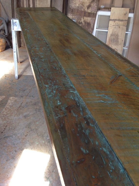 reclaimed wood dining table table top industrial dining table bar rh pinterest at