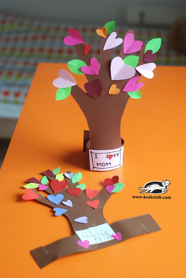 Flowering Tree From A Kid S Hand Cool Crafts Pinterest
