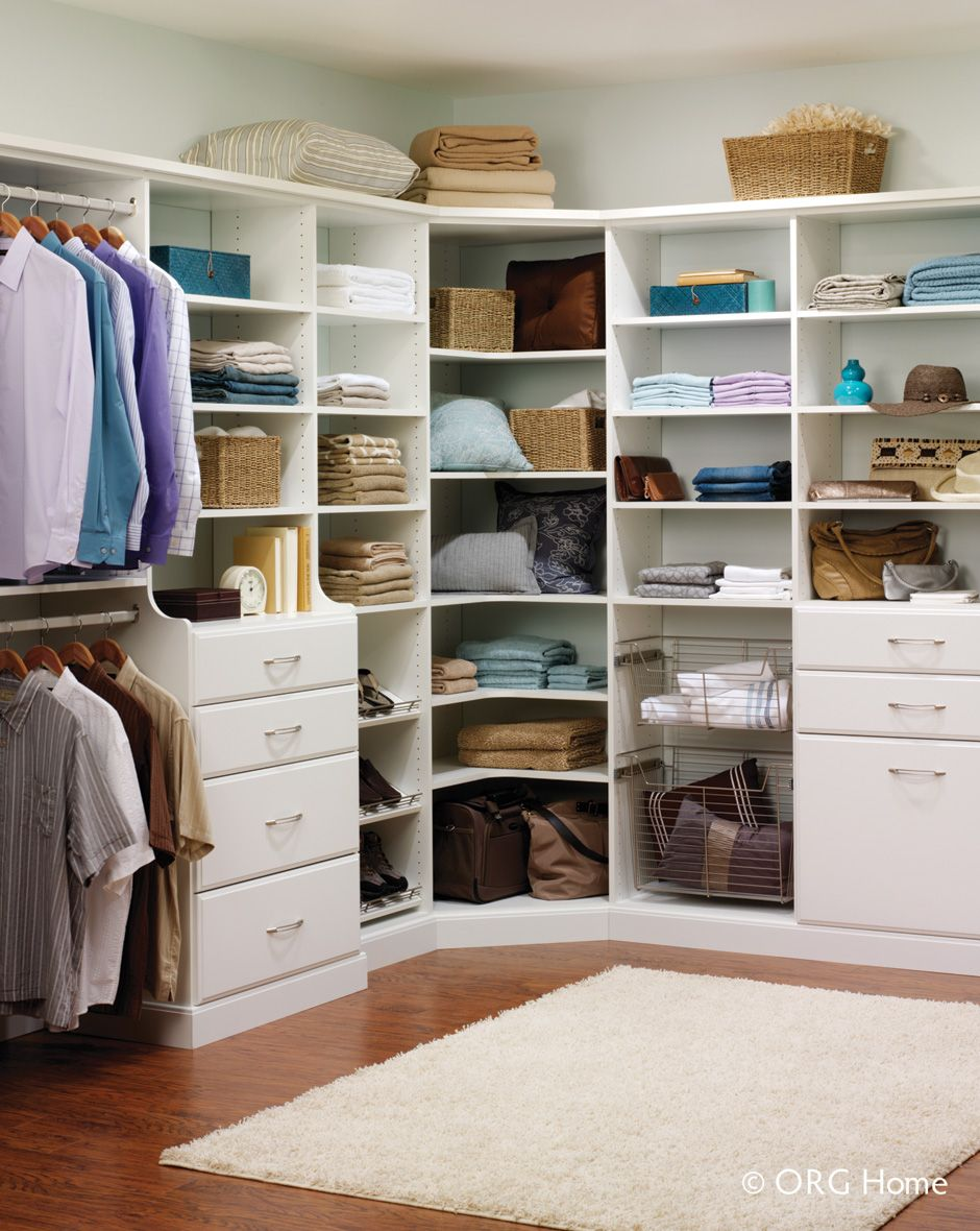 Corners in closet designs or kitchens can