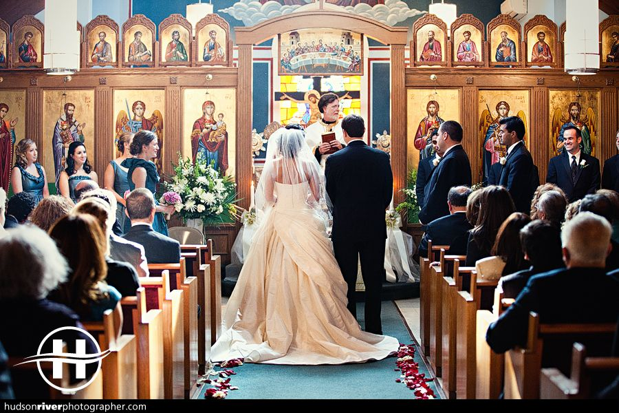 wedding ceremony new york city%0A Tara and Giorgos got married at St  Basils Chapel on the grounds of the  beautiful St  Basils Academy in Garrison  NY  It was a wonderful Greek  ceremony with