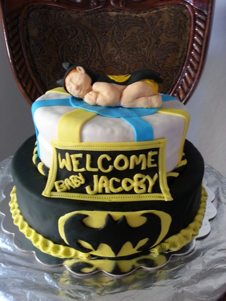 Babyshower Batman Themes | Batman Theme Baby Shower Cake.