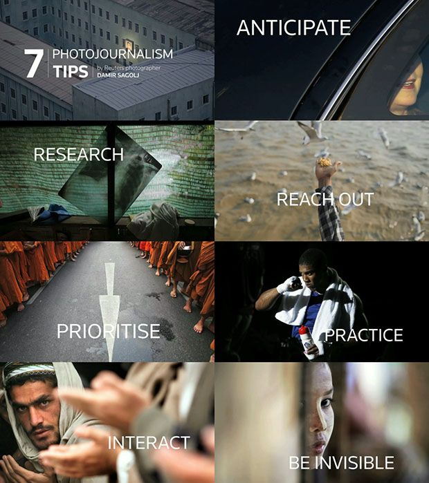 7 tips for photojournalism.  But they also applies to anyone who wants to be a better photographer.