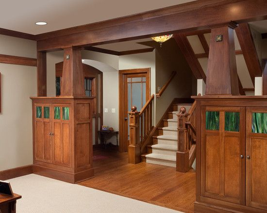 craftsman homes typically have built ins like these cabinets by rh pinterest com