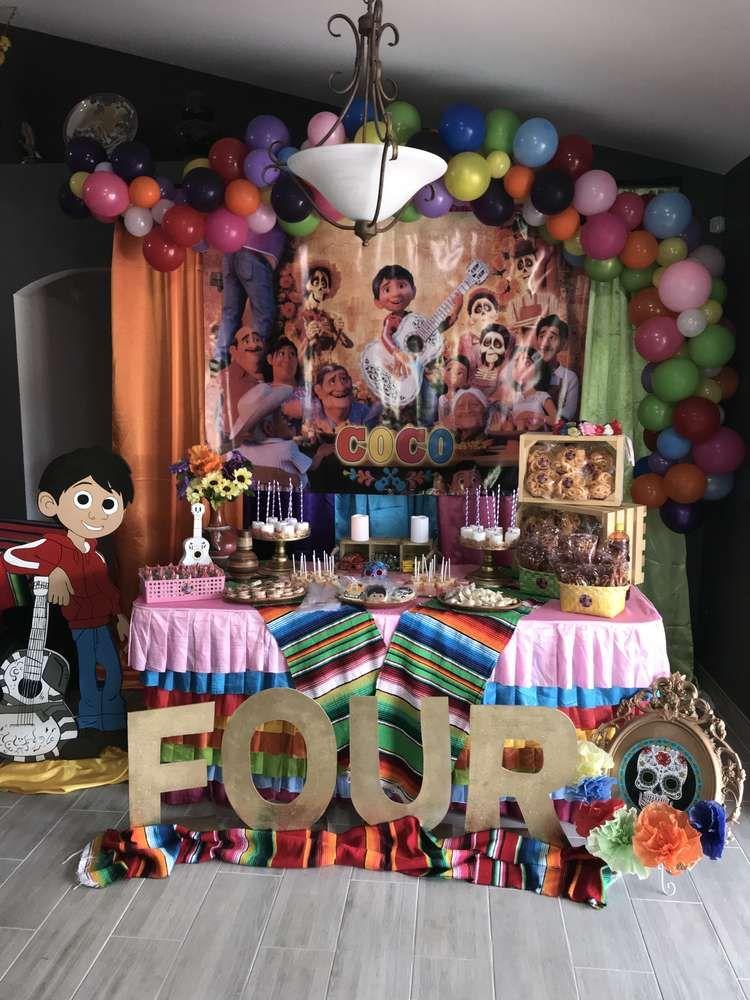 Coco Birthday Party Ideas Photo 1 Of 13 Birthday Party