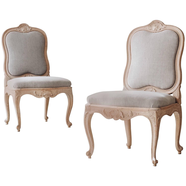of Swedish 18th Century Rococo Chairs