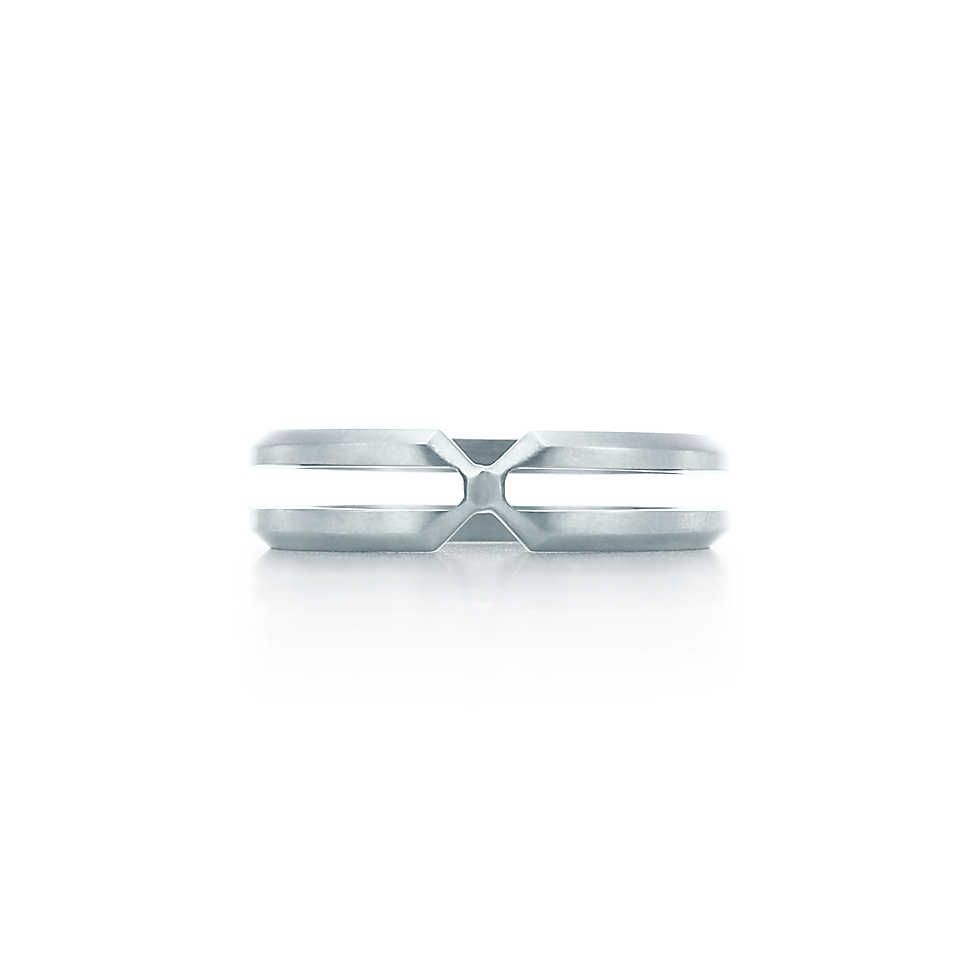 Groom Palomas Zellige ring in stainless steel Tiffany Co