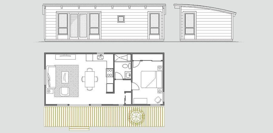 Maxwell 16x36 Prefab Cabins Small House Plans Modular Home Floor Plans