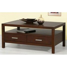 Lalbay Wooden Center Table Two Drawers With Images Coffee