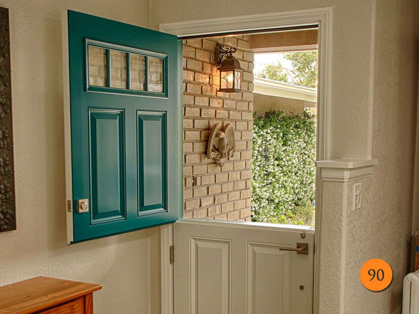 """Exterior Door 36"""" x 80"""" single dutch fiberglass entry door. plastpro model drs60"""