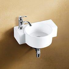 Waschbecken Waschtisch für Gäste WC Keramik Handwaschbecken ...