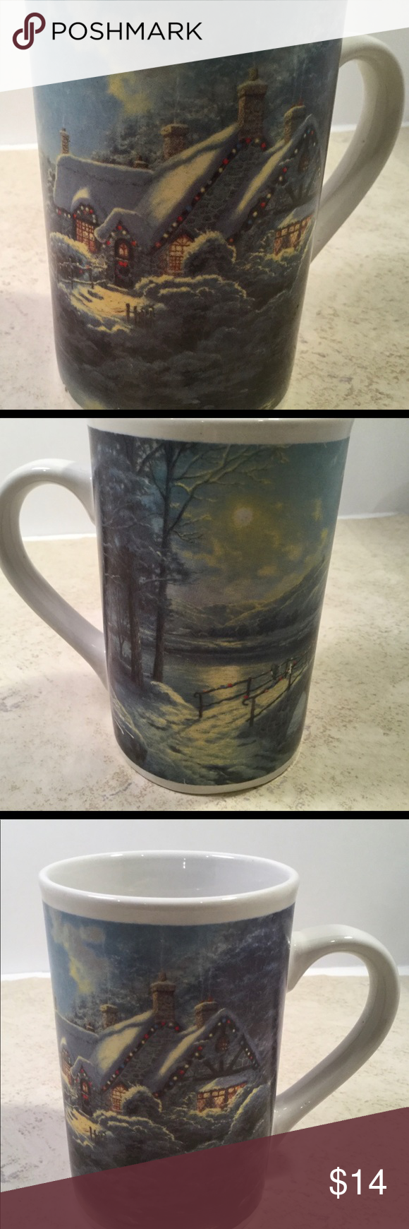 Thomas Kinkade Collectable Mug Christmas Moonlight in 2020