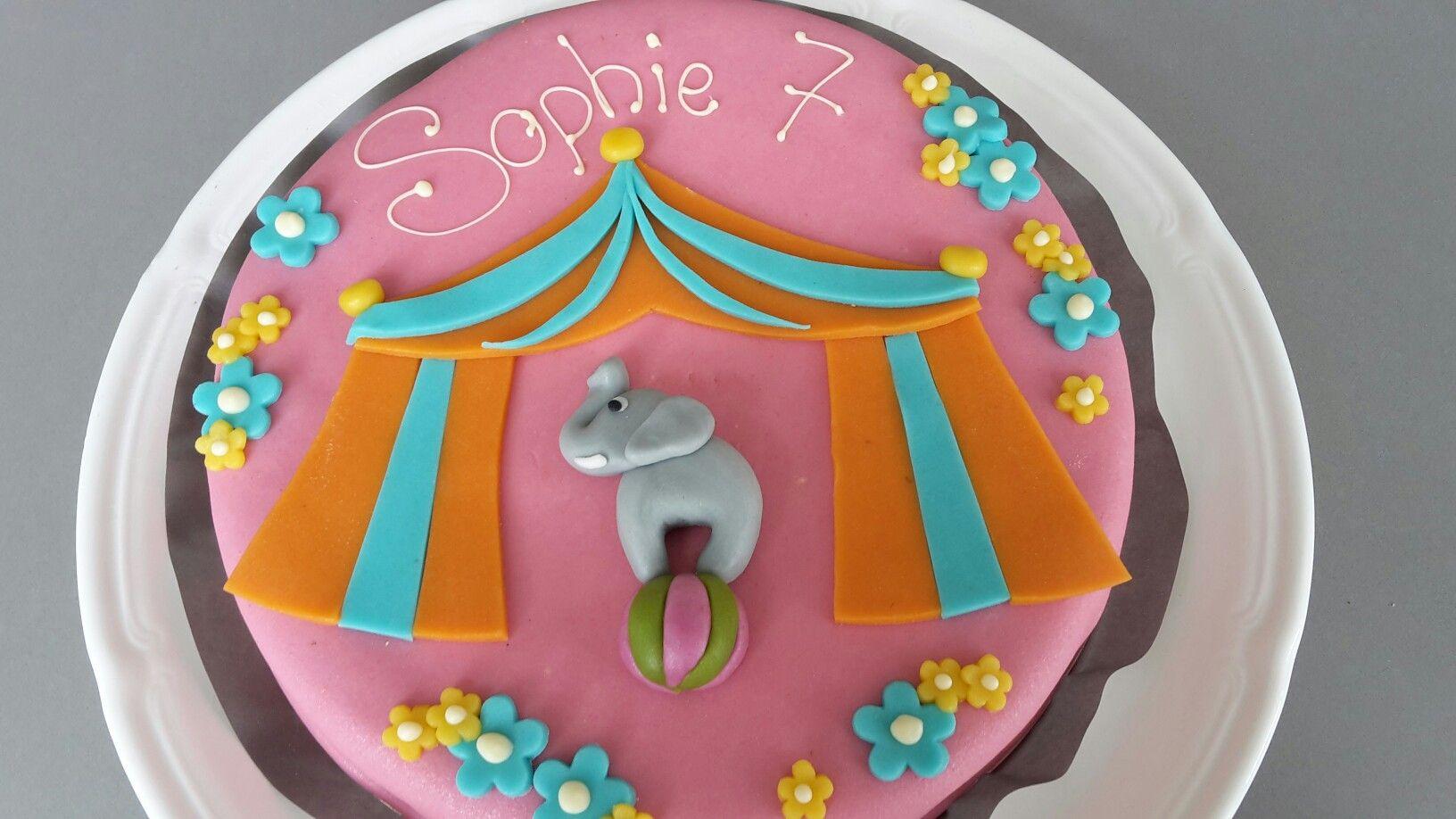 Birthday cake - theme Circus