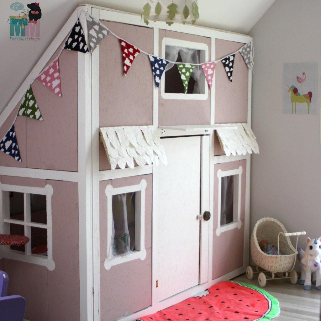 Kinderzimmer selber bauen  DIY - Ein Hausbett im Kinderzimmer - #chellisrainbowroom ...