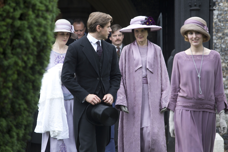 Downton Abbey - Lady Edith Crawley with Countess Cora Crawley and Tom Branson