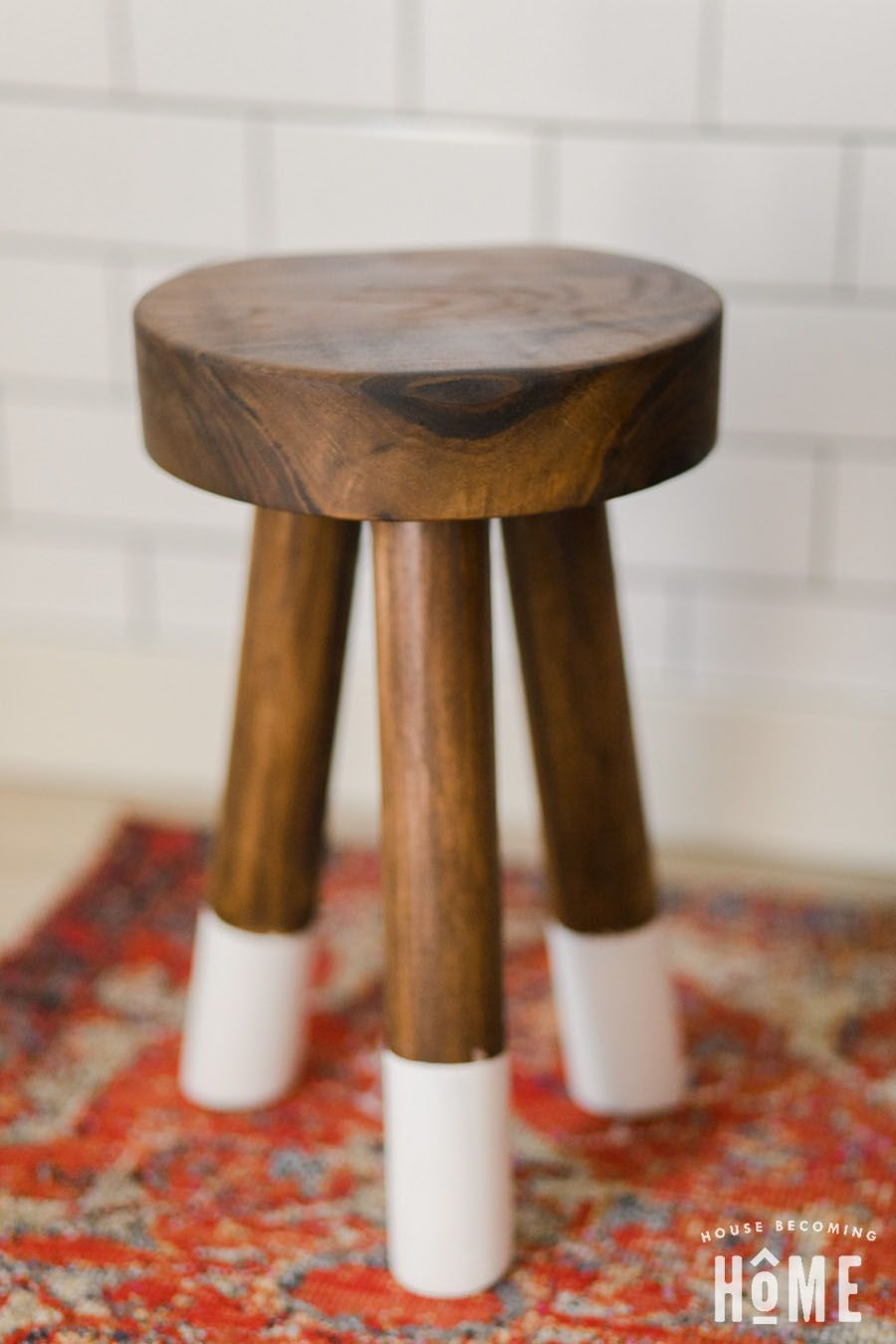 How To Make A Diy Dip Dyed Stool Out Of Walnut Scraps And Dowels