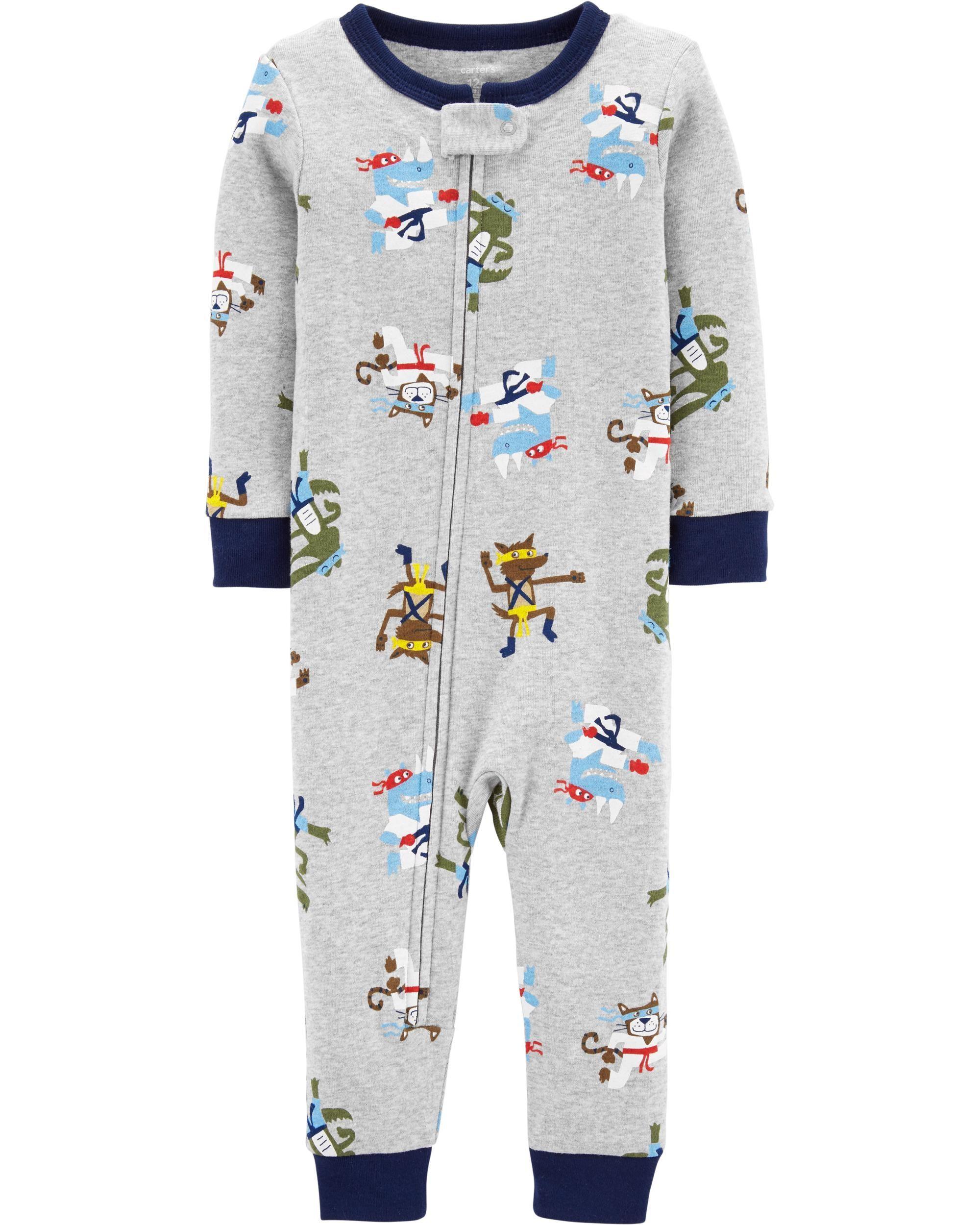 19c8ebb15934 1-Piece Ninja Snug Fit Cotton Footless PJs