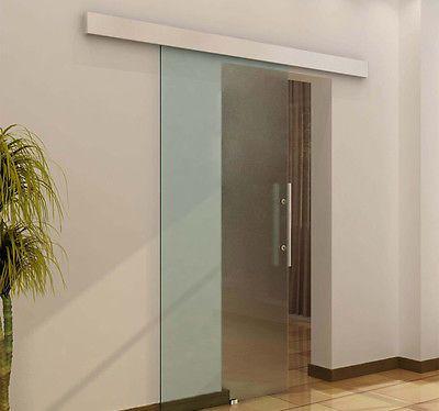 Glasschiebetur Schiebetur 2050x900x8mm Tur Glastur Zimmertur Mit Griffstange Glasschiebetur Schiebetur Schiebetur Glas