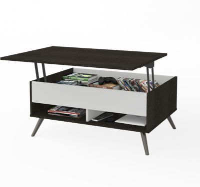 Macys Lift Top Coffee Table.Small Space Krom 37 Lift Top Storage Coffee Table Dark Gray In