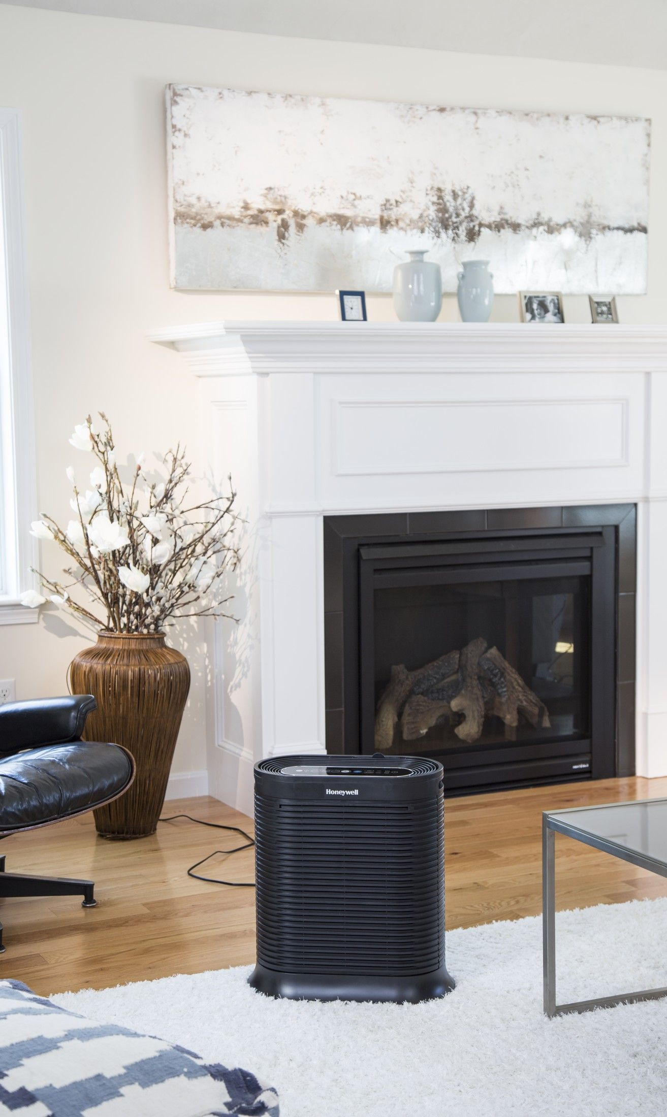 The large room size of this air purifier is perfect for the family room. Sponsored.