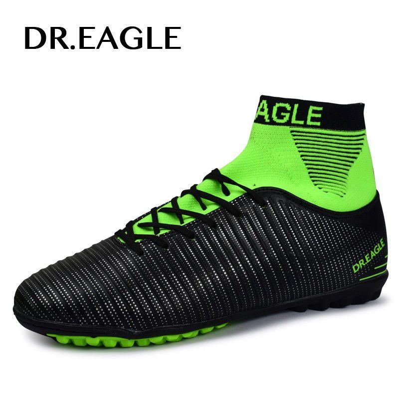 51051b39c Soccer Futsal Shoes Indoor Football Turf Black Men Cleats Ankle High  Sneakers #SoccerFutsal