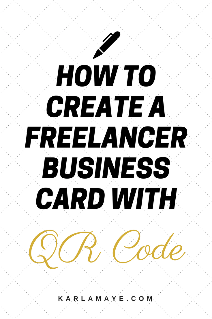 How to Create a Freelancer Business Card with QR Code