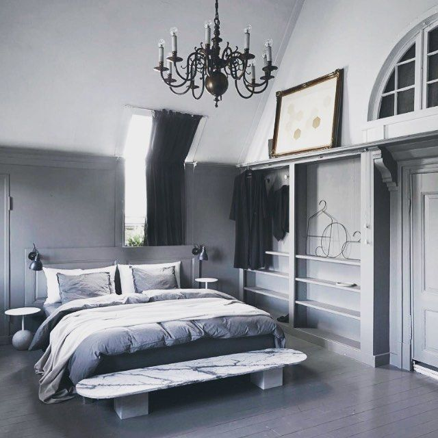 A Stunning Grey'n'white Bedroom Featured In #EDCountry