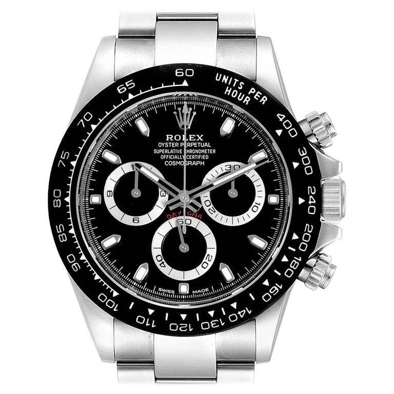 Rolex Daytona Ceramic Bezel Black Dial Chronograph Men's Watch 116500 #rolexdaytona