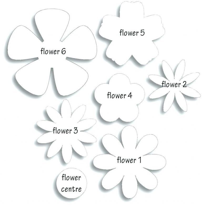 picture about 5 Petal Flower Template Free Printable named Paper Rose Template Printable Flower Templates Large No cost