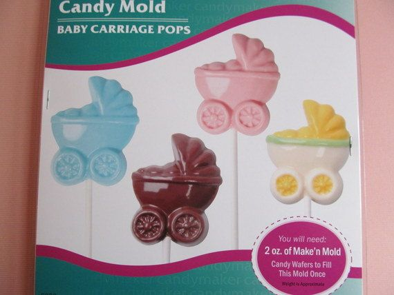 Candy Mold Baby Carriages For Candy Pops Great For Baby Showers Can Use With Any Candy Me Baby Shower Chocolate Baby Shower Chocolate Molds Baby Shower Cookies