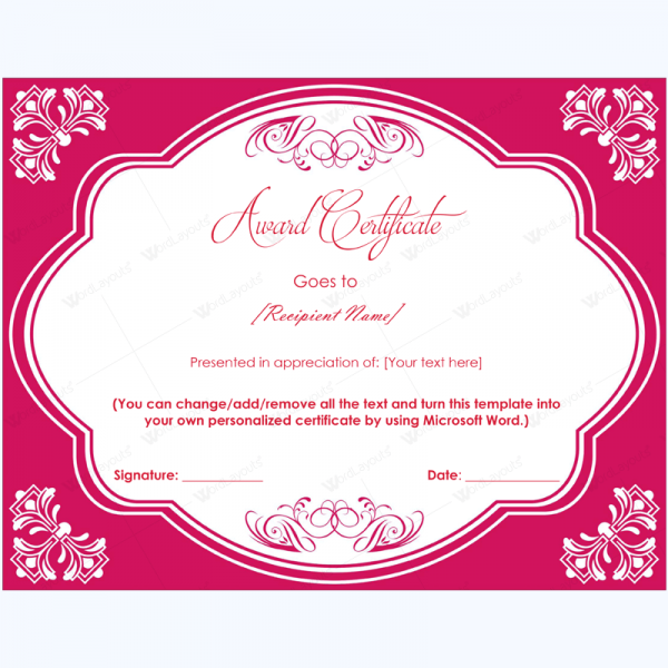 Elegant award certificate template awardcertificatetemplate elegant award certificate template awardcertificatetemplate yelopaper Images