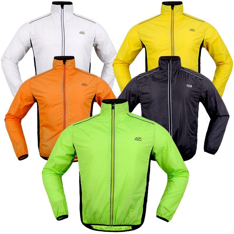 2017 Hot Sale Full Sleeve Polyster Cycling Sports Wind Rain Coat Breathable Windproof Waterproof RidingWear Clothing